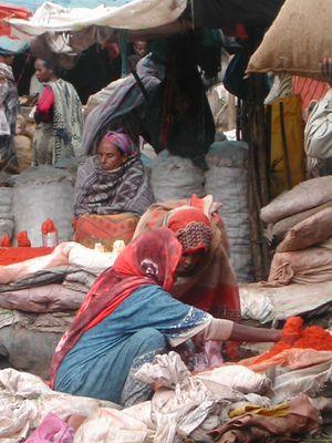 muslim part of Harar market