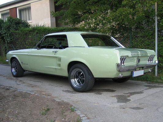 Mustang Hardtop Coupe 1967 Rückseite
