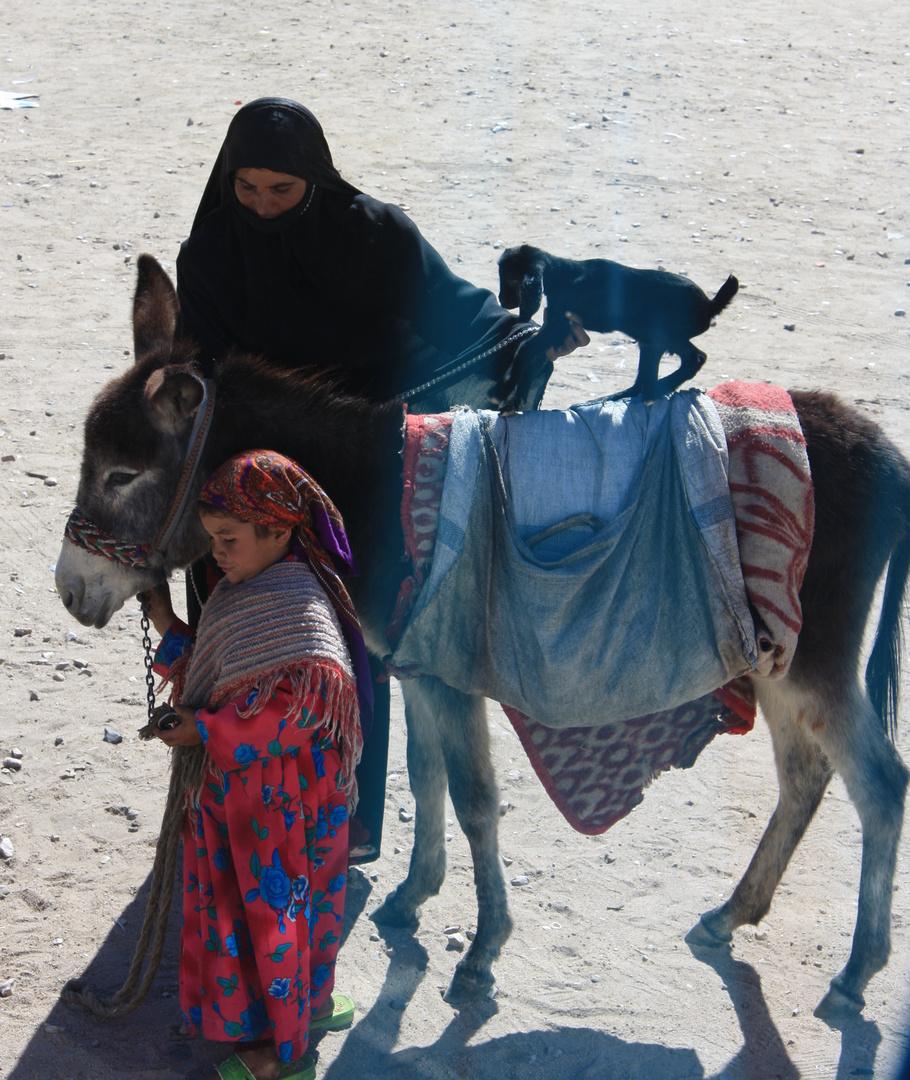 Mutter und Kind in Ägypten