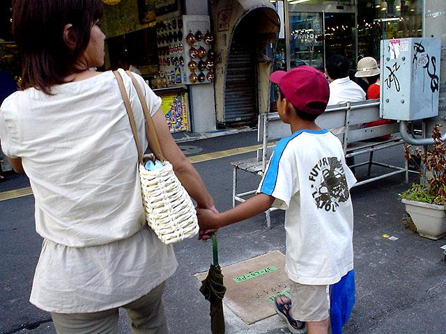 Mutter und Sohn (Sommerferien)
