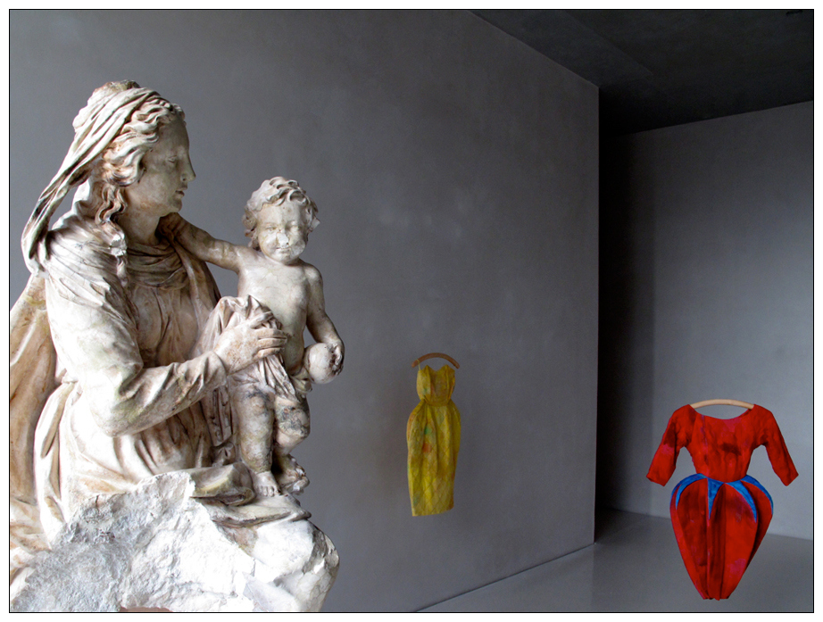 Muttergottes mit Kind und neuen Kleidern