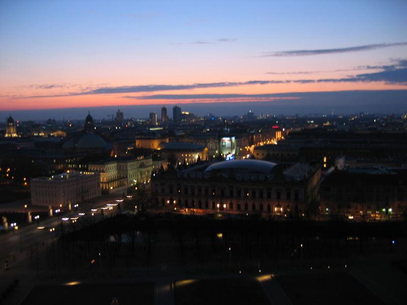 my hometown at night