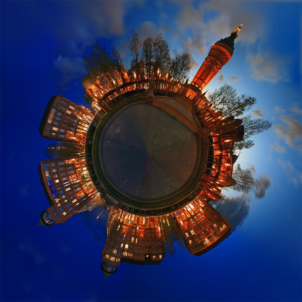 My little Planet- Mannheim Wasserturm