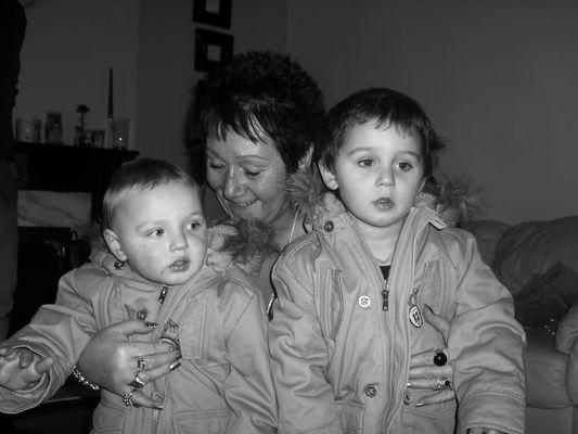 My two nephews and grandmother.