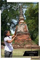 My wife take care Ayutthaya