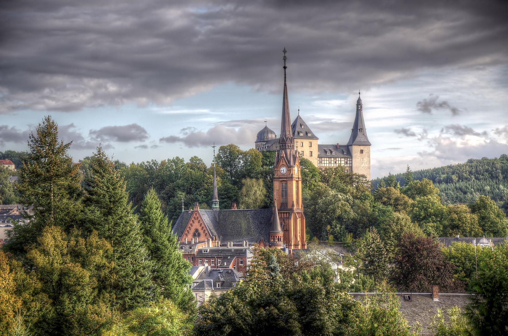 Mylau / Vogtland / Saxony / Church & Castle [ RELOAD ] with Photomatix
