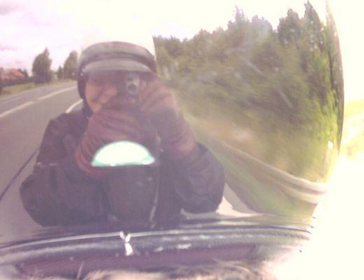 myself im Helm meines Partners..