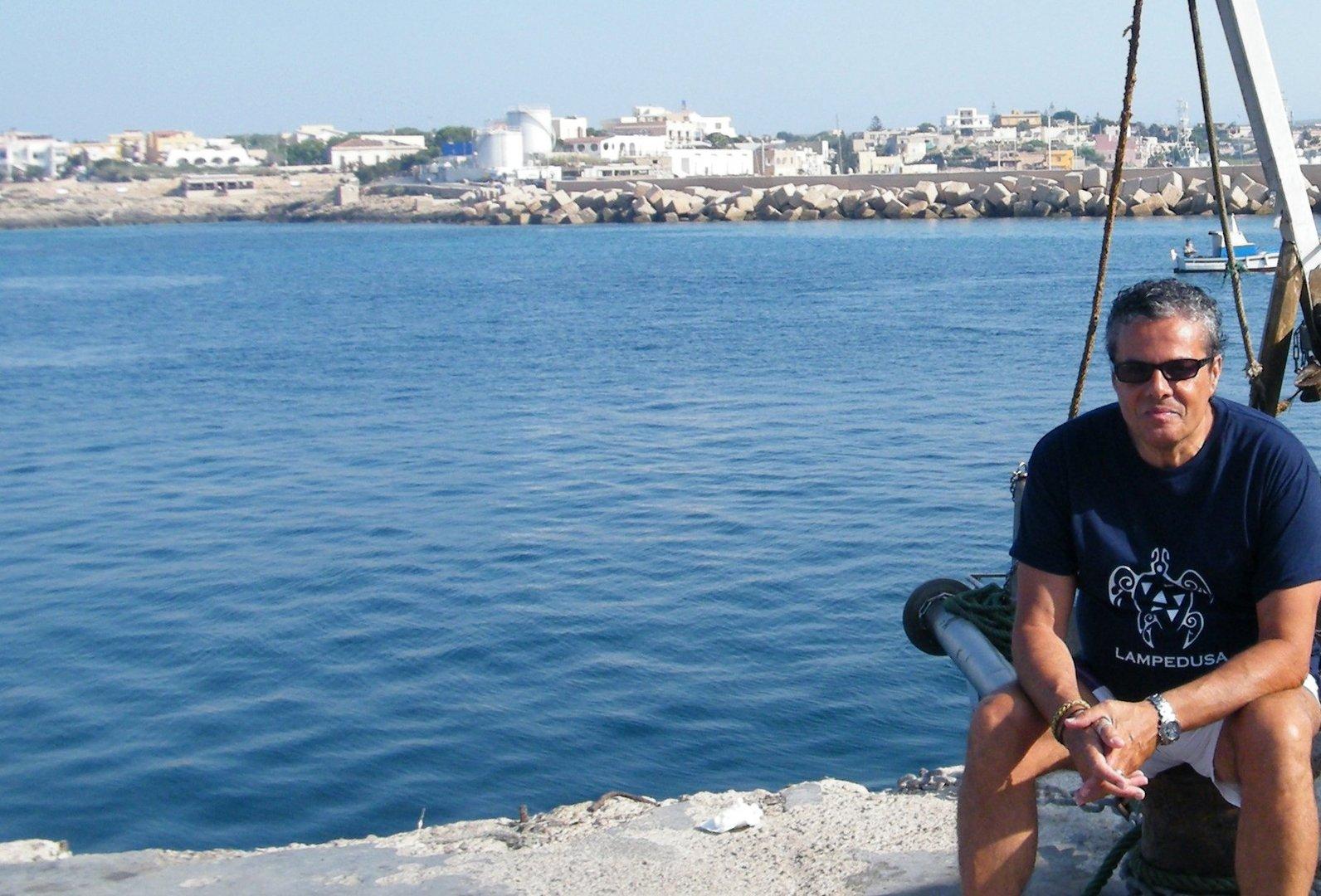 ....myself to Lampedusa Island