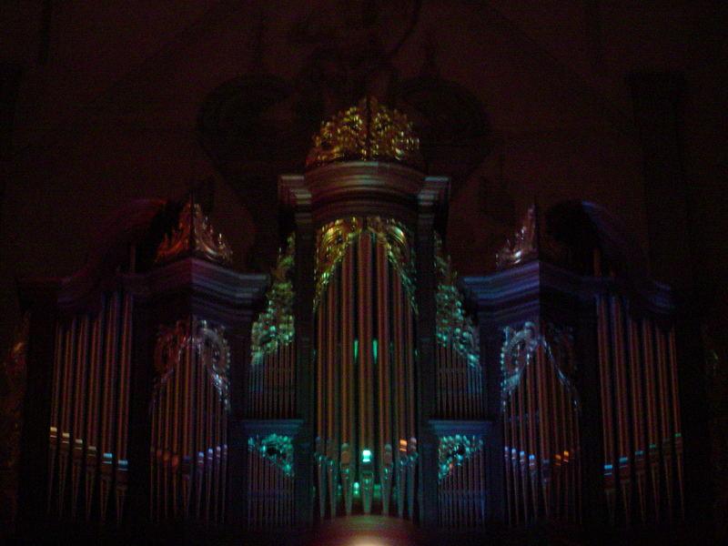 mystischer Orgelprospekt