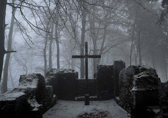 Mystischer Ort im Wald