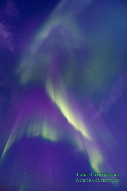 Mystischer Polarlicht Vorhang