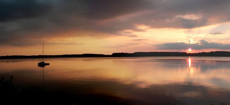 Mystischer Sonnenuntergang am Wörthsee