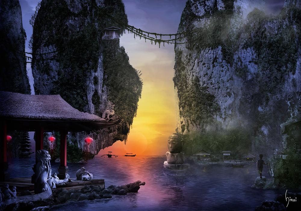 Mystisches altes Asien