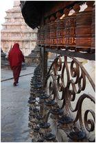Mystisches Nepal-Gebetsmühlen an der Stupa von Swayambhunath