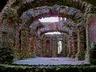 Mystisches Ruinentheater Sanspareil im Gegenlicht