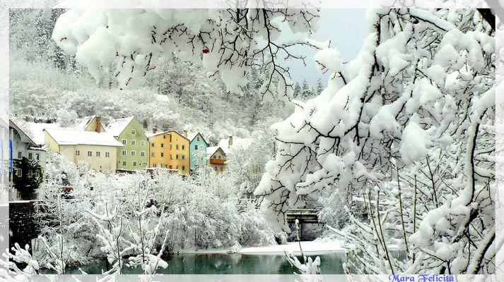 NA SERVUS ..... da war gestern null Schnee........!!!!