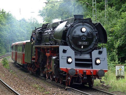 Na so was Kurven schneiden bei der Eisenbahn ....