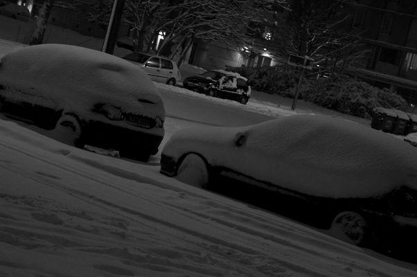 Nach dem Schneefall in Leipzig am 4.Jan