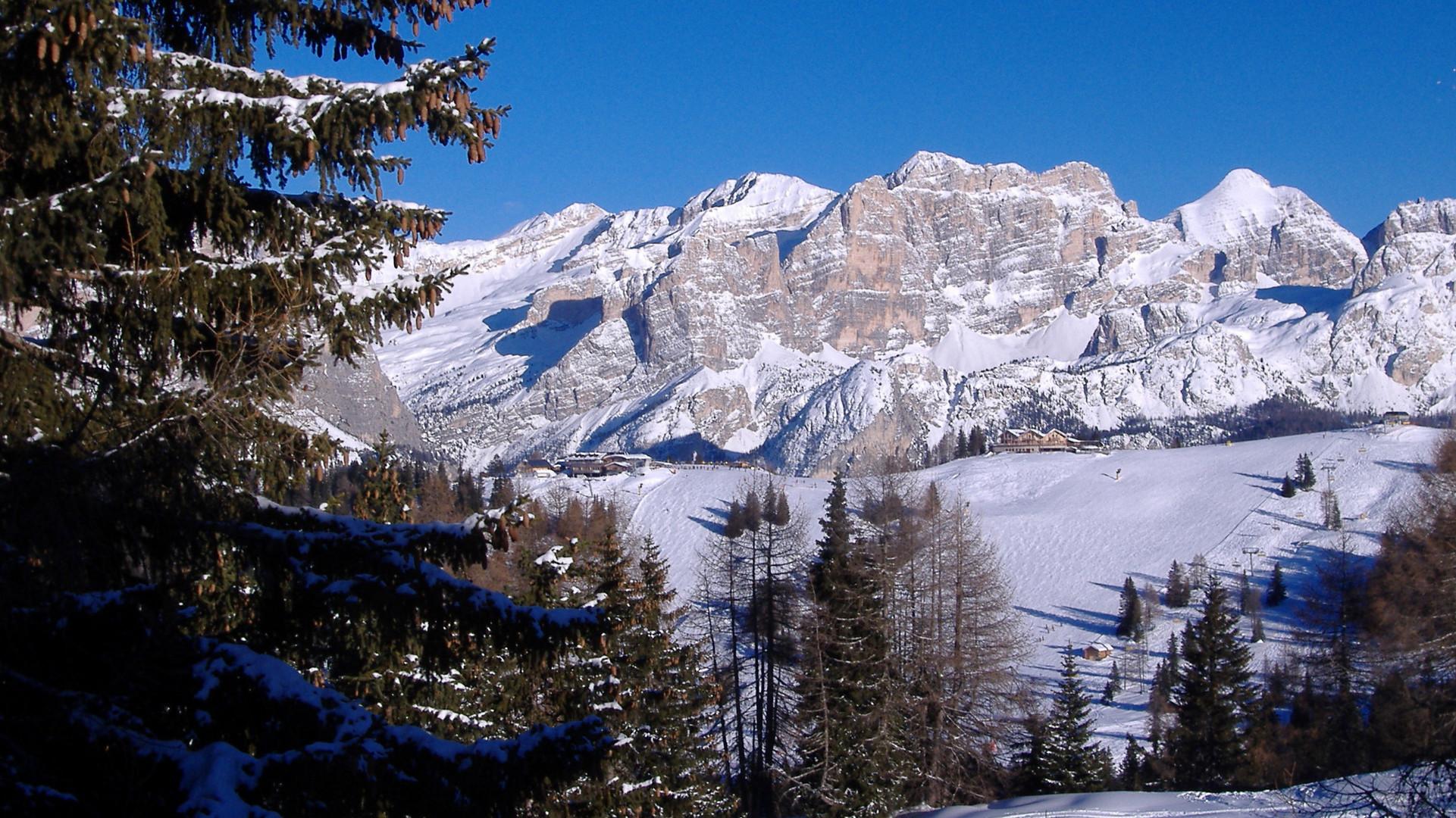 Nach dem Skitag noch mal die Aussicht genießen