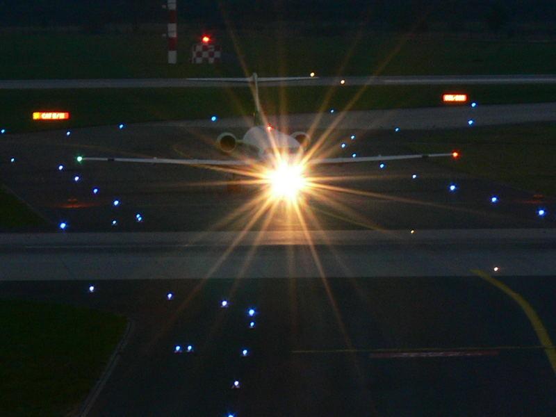 Nach der Landung am Abend....