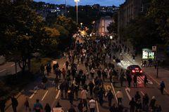 nach der Montagsdemo 27.9.2010 - Stuttgart K21