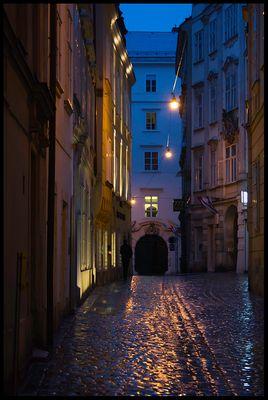 Nach einem Regenschauer abends in Wien