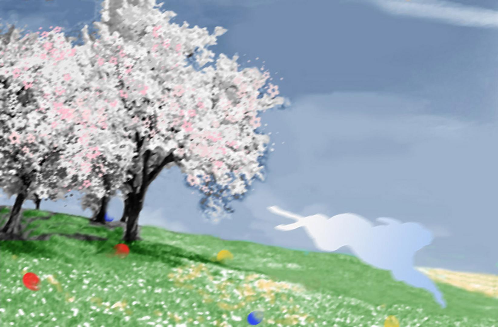 Nach getaner Arbeit - Frohe Ostergrüße