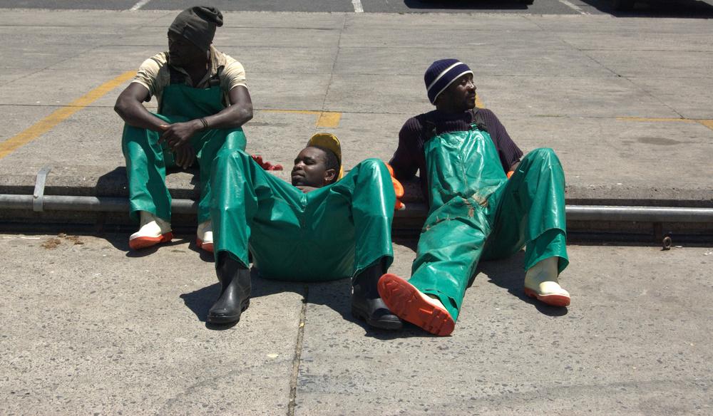 Nach getaner Arbeit müssen die Fischer von Südafrika ausruhen
