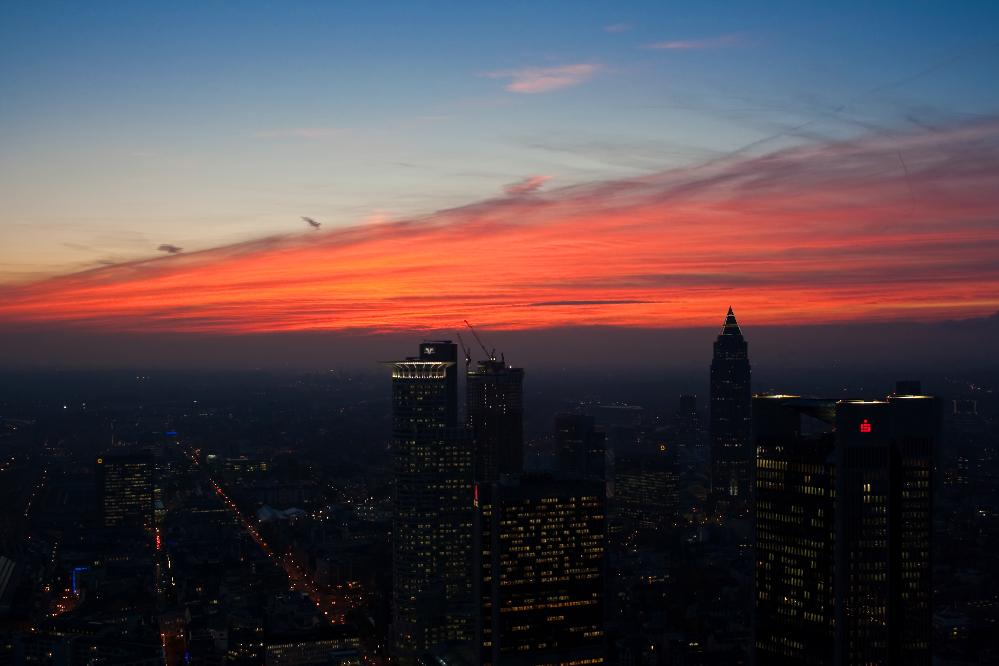 Nach Sonnenuntergang auf dem Maintower