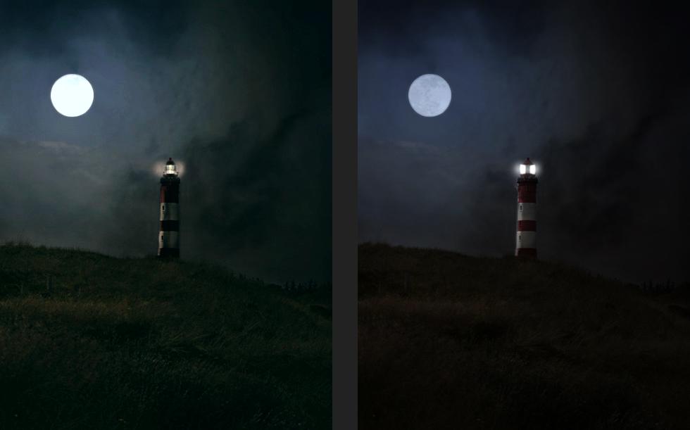 Nachbearbeitung Leuchtturm