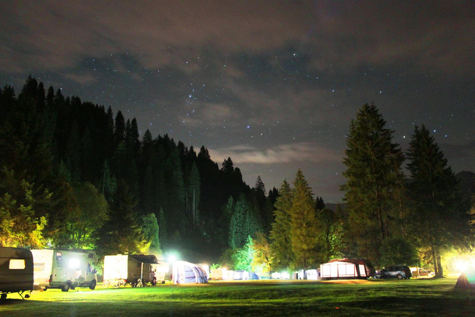 Nachbild Campingplatz