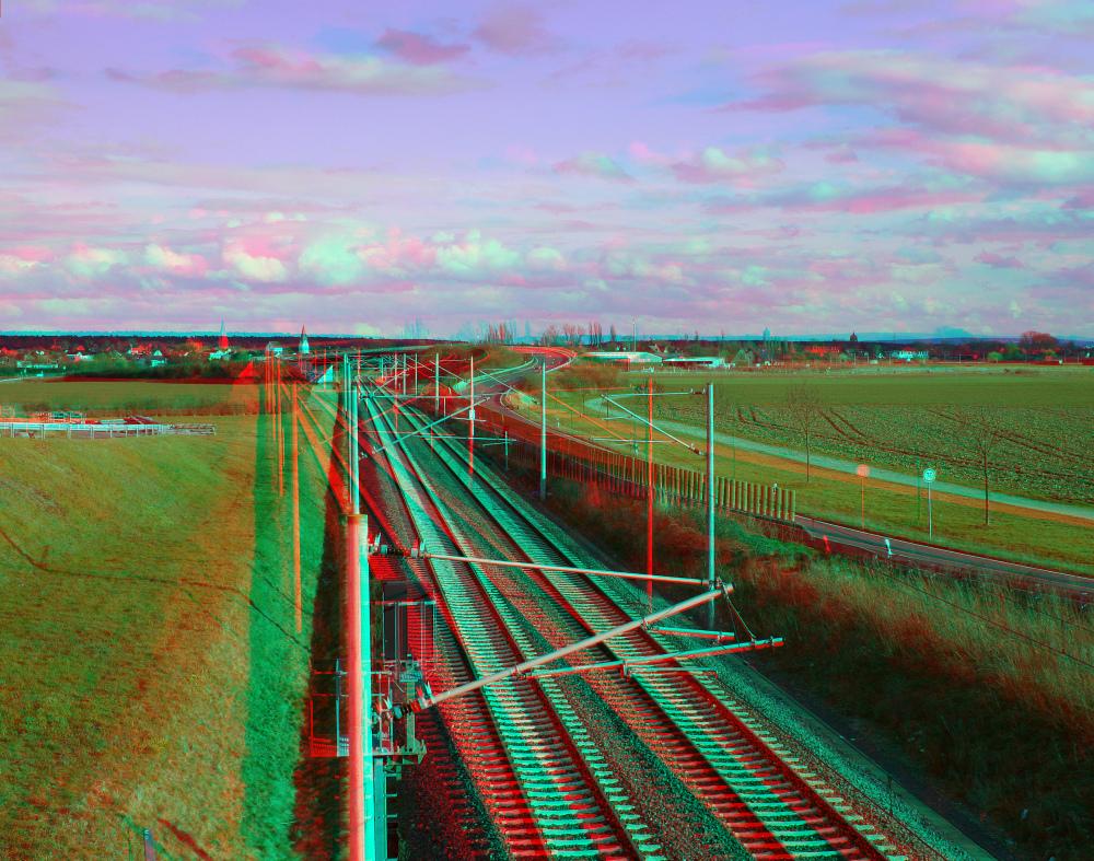 Nachmittag an der Bahnlinie (Farbanaglyphe rot/cyan , dubois)