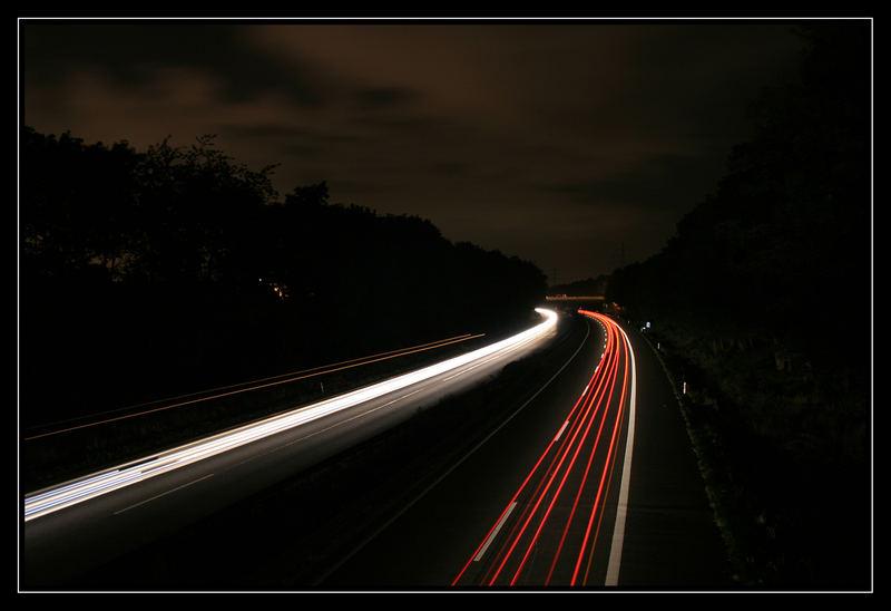 Nacht auf der Autobahn 1. Versuch