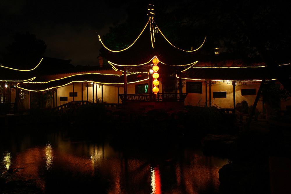 Nacht im Garten des Meisters der Netze