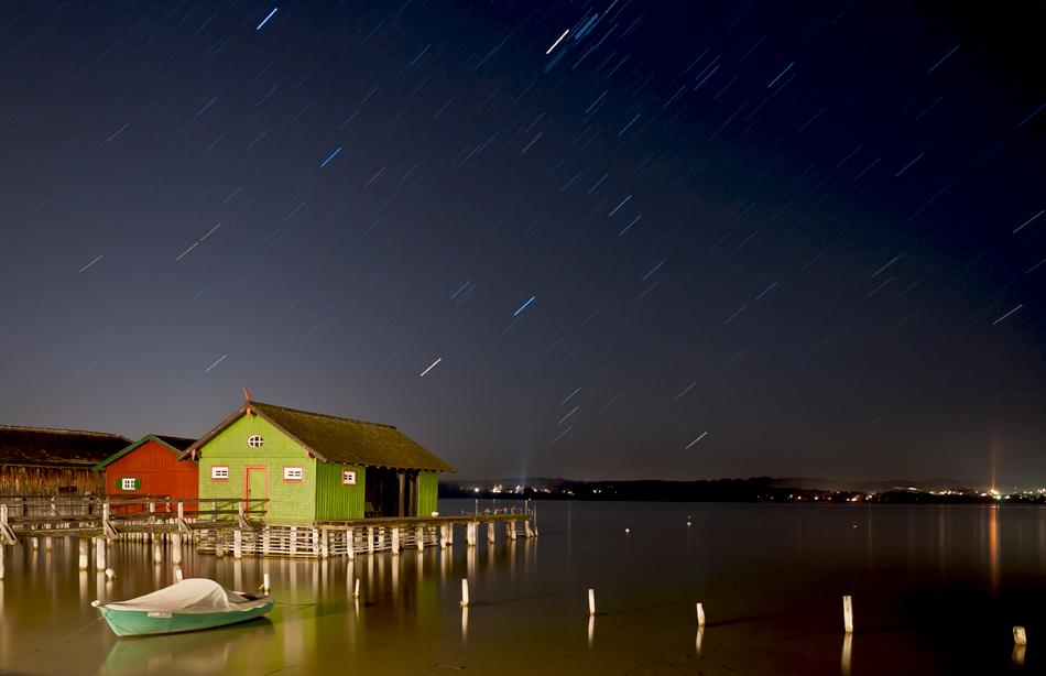 Nacht über Ammersee