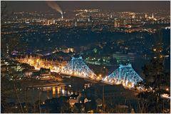 Nacht Visionen- Meine Stadt bei Minus 12 Grad