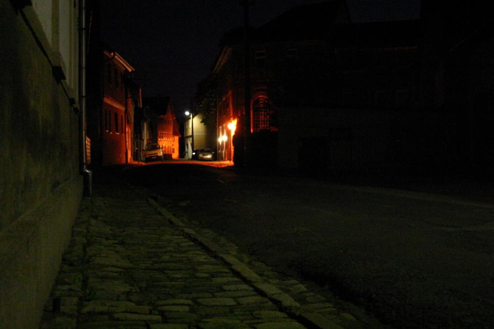 Nacht vor der Haustür