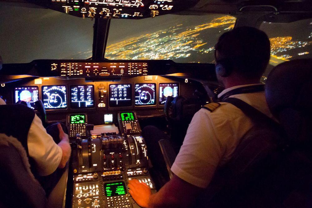 Nachtanflug Sao Paulo VCP