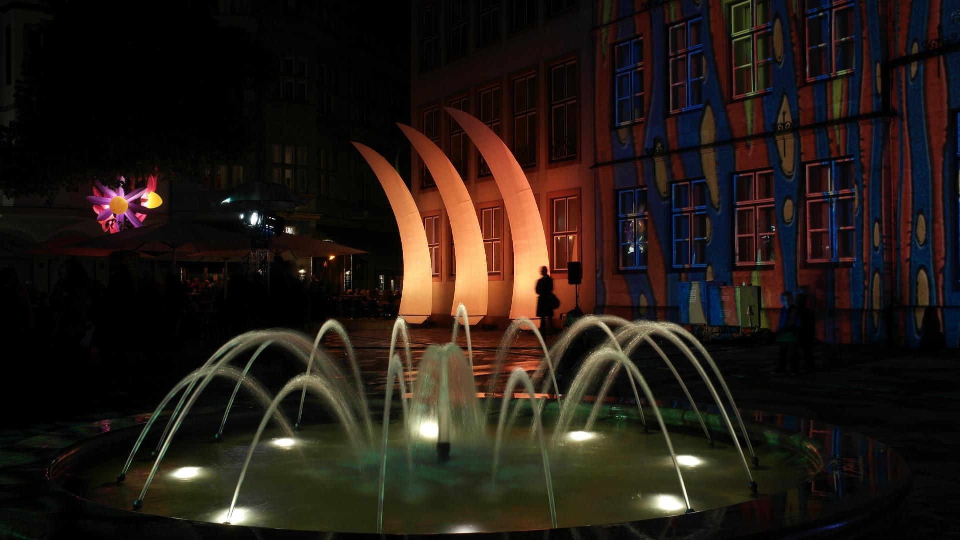 Nachtansichten Brunnen Altstadt