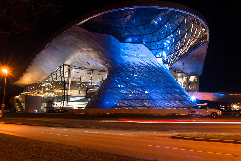 Nachtaufnahme BMW Welt München