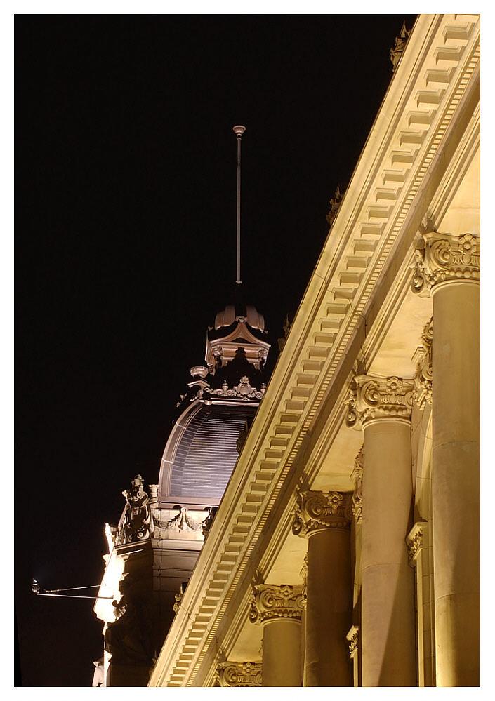 Nachtaufnahme - Historische Stadthalle Wuppertal