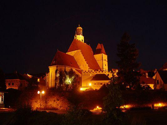 Nachtaufnahme - Kirche von Prachatice