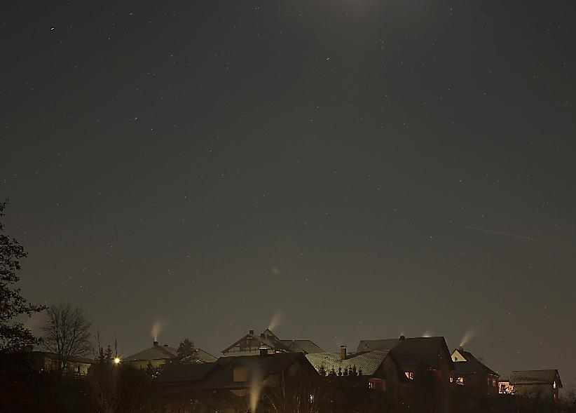 Nachtaufnahme mit kleinen Schwächen