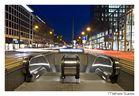 Nachtaufnahme: U-Bahn