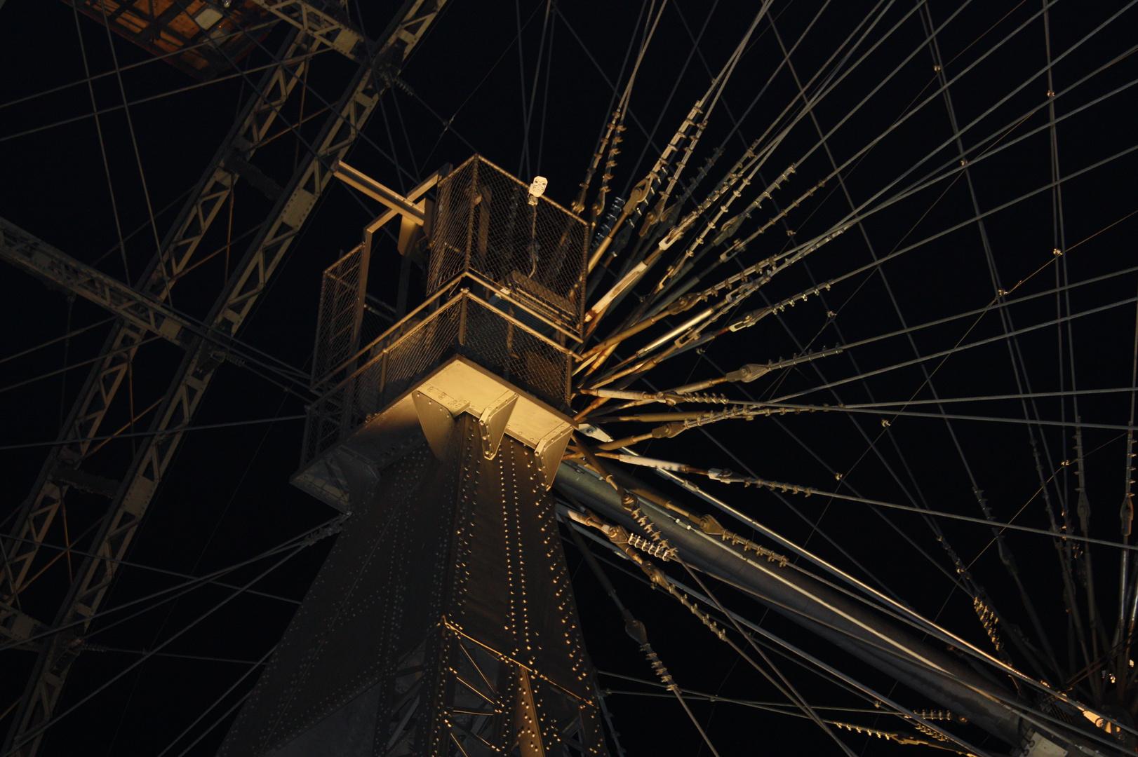 Nachtaufnahme vom Riesenrad in WIEN