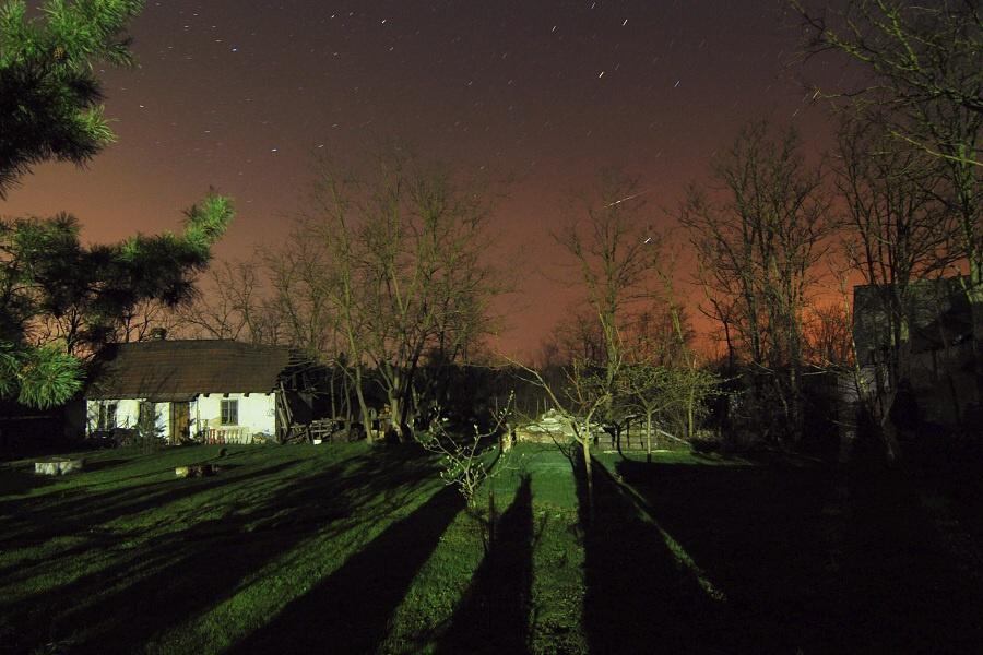 Nachthimmel an der Hütte
