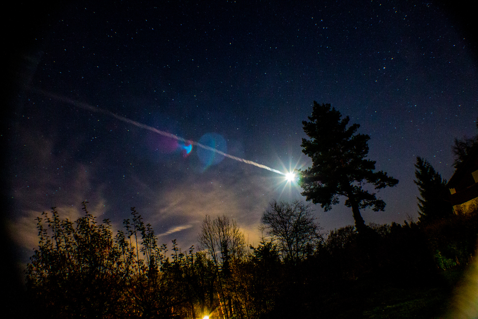 Nachthimmel Langzeitbelichtung