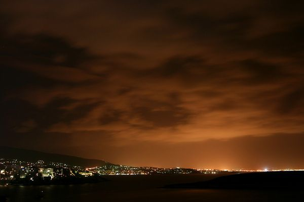 Nachthimmel über der Bucht von Palma