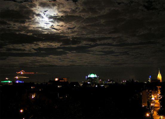 Nachthimmel über Hannover