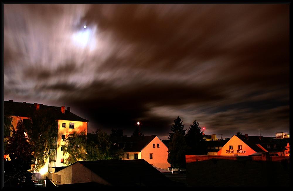 Nachthimmel über Koblenz